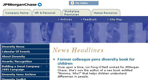 JPMorgan Chase - Diversity website